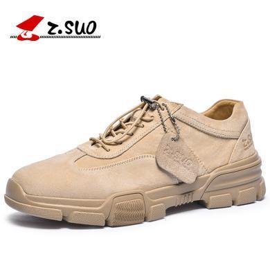 Z.Suo/走索男鞋2019新款男士休閑板鞋韓版百搭工裝鞋套腳鞋子男潮鞋 ZS757