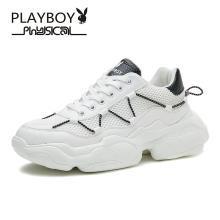 花花公子男鞋潮鞋夏季?#38041;?#22686;高休闲运动网面鞋新款潮流老爹鞋子男W99046