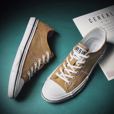 OKKO潮牌新款男鞋鏤空透氣包頭休閑小板鞋低幫輕便運動休閑鞋WD1975