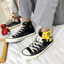 帆布鞋男布鞋高幫潮鞋韓版潮流百搭板鞋夏季透氣卡丘手繪  JN-JD056