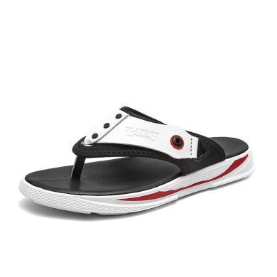 花花公子男鞋夏季人字拖男士個性室外沙灘鞋韓版潮流夏天涼鞋拖鞋CX9570