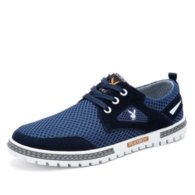 花花公子男鞋跑步鞋男士夏季休閑網布鞋子透氣網鞋網面運動板鞋潮CX39234