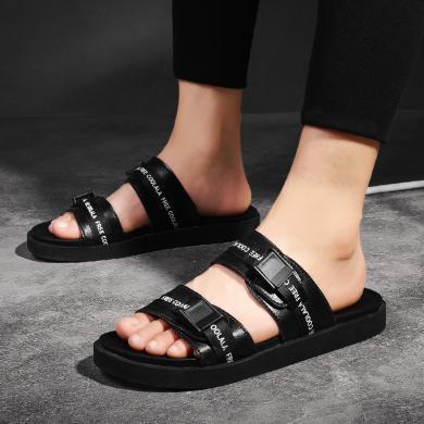 新款夏季男士拖鞋室外时尚外穿凉拖一字拖沙滩防滑户外拖鞋MF-A16