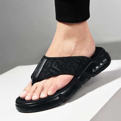 公牛世家男士拖鞋2019夏季新款室外夾趾拖鞋時尚外穿沙灘人字拖男鞋子 888700