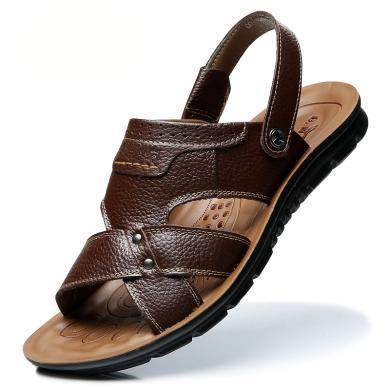 公牛世家夏季男士涼鞋男沙灘鞋戶外休閑透氣涼拖鞋兩用涼拖男鞋潮 888563