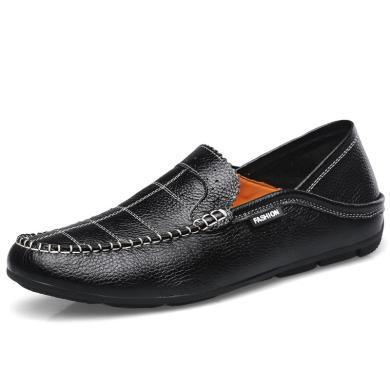 卡帝樂鱷魚新款男鞋輕便休閑豆豆鞋懶人駕車鞋商務休閑鞋Q1818