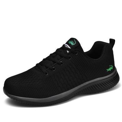 卡帝乐鳄鱼男鞋透气休闲网面鞋男士运动鞋子跑步板鞋潮鞋QH3002