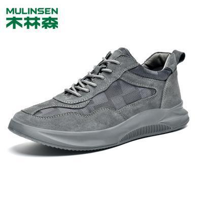 木林森2019新款男鞋秋季透气休闲鞋韩版男士运动鞋百搭板鞋潮M9004018