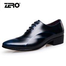 Zero零度皮鞋男正装商务鞋时尚英伦风尖头婚鞋大码真皮新郎男鞋