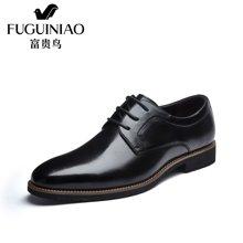 富贵鸟(FUGUINIAO)富贵鸟男鞋商务正装皮鞋男英伦系带尖头结婚鞋子 B697261