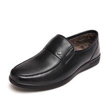 富贵鸟(FUGUINIAO) 富贵鸟皮鞋男士皮鞋商务男鞋 头层牛皮套脚男鞋 S406032