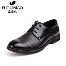 富贵鸟(FUGUINIAO) 头层牛皮系带商务正装皮鞋男 英伦男鞋子 B289083