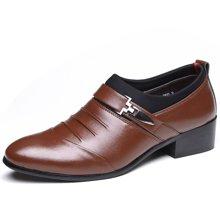 俊斯特 新款尖头套脚商务正装皮鞋低帮鞋单鞋男鞋