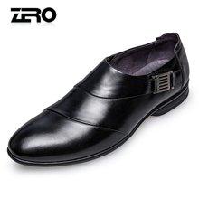 Zero零度尖头时尚皮鞋正装皮鞋男 2017春季新款职场男士男鞋套脚