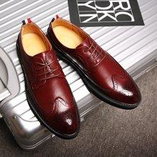 Simier斯米尔男鞋经典布洛克小皮鞋系带皮鞋商务鞋X1516