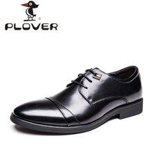 啄木鸟PLOVER 男鞋秋季商务正装休闲皮鞋英伦男系带尖头皮鞋A09057