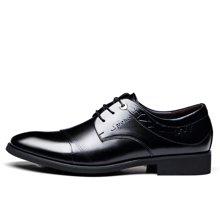 俊斯特 新款男士皮鞋商务正装皮鞋男系带时尚单鞋男鞋