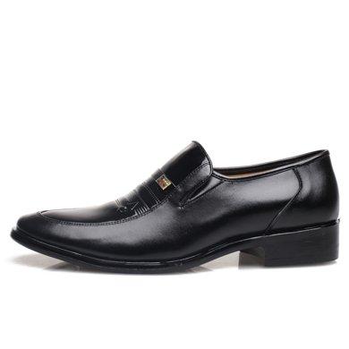 男士皮鞋頭層牛皮男皮鞋商務正裝休閑韓版英倫透氣男鞋子607