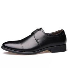 俊斯特 2016新款男士商务正装尖头皮鞋男鞋绅士套脚鞋单鞋