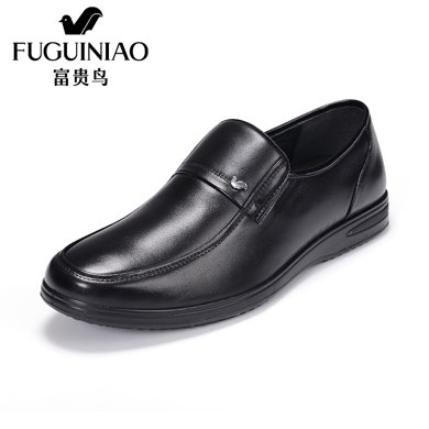 富贵鸟皮鞋男士皮鞋商务男鞋 头层牛皮套脚男鞋 S406032