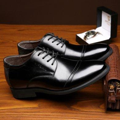 承發新品男士正裝皮鞋商務內增高鞋子休閑單鞋牛皮男鞋鞋子  96148