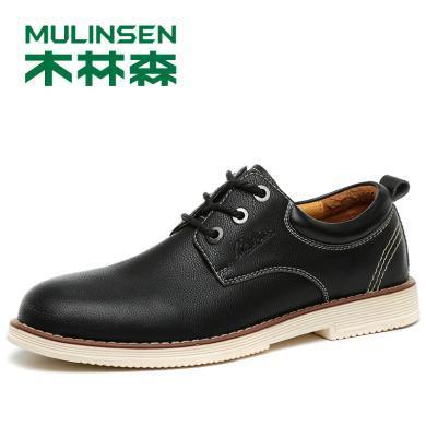 木林森秋季新款商务正装男鞋休闲皮鞋工装鞋Q280119