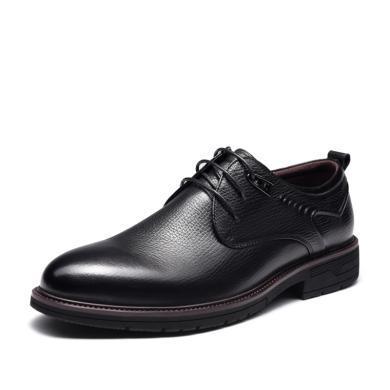 富貴鳥皮鞋 男士商務正裝尖頭系帶低幫鞋子 T901073