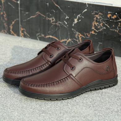 德国骆驼动?#24515;行?#30382;鞋新款男士商务休闲皮鞋子?#32844;中?#38738;年鞋 19266