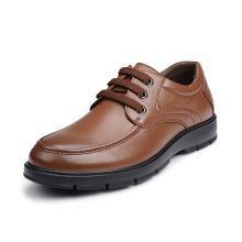 富貴鳥(FUGUINIAO)男士皮鞋頭層牛皮商務休閑男鞋舒適系帶鞋子男 A603002