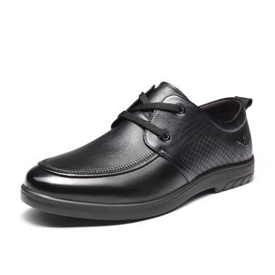 富貴鳥皮鞋頭層牛皮商務休閑鞋男鞋 S909109