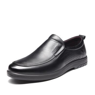 富貴鳥商務皮鞋男士英倫套腳皮鞋男低幫男鞋 S909108