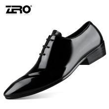 Zero零度正裝皮鞋男尖頭英倫風商務正裝鞋系帶真皮男鞋婚鞋皮鞋