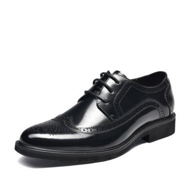 富貴鳥皮鞋英倫布洛克雕花男鞋系帶休閑正裝皮鞋 B984018