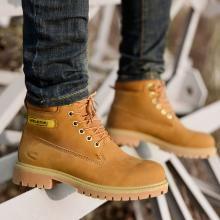 德國駱駝動感男靴冬季高幫馬丁靴男士英倫大黃靴加絨棉鞋雪地靴子潮 1785
