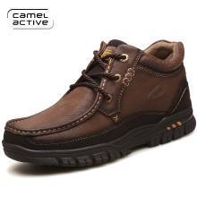 德國駱駝動感男靴子冬季加絨保暖高幫棉鞋牛皮男鞋短靴戶外雪地靴 3197