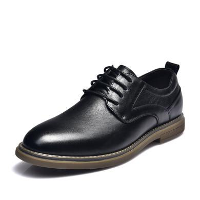 富贵鸟?#34892;?男士系带英伦风商务皮鞋男 A984022