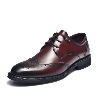 富貴鳥男鞋時尚英倫布洛克雕花商務皮鞋正裝鞋 B984002