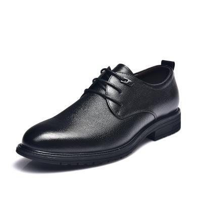 富贵鸟皮鞋 时尚绅士正装鞋 男士尖头系带商务男鞋 B984012