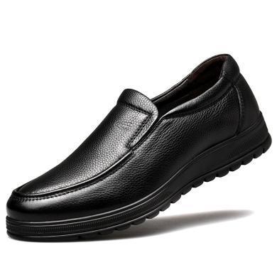 德國駱駝動感秋季頭層牛皮休閑皮鞋男士一腳蹬懶人鞋軟面皮爸爸鞋 19587