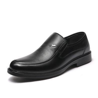富貴鳥皮鞋男士商務正裝皮鞋男圓頭套腳鞋加絨保暖鞋 B809127