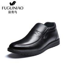富贵鸟(FUGUINIAO)富贵鸟棉鞋男鞋冬季加绒保暖高帮鞋男士商务休闲皮鞋爸爸鞋子 D606772C