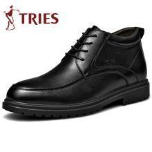 才子男鞋冬季加绒保暖雪地靴高帮棉鞋男士切尔西靴皮男靴短靴子CZ2804Z