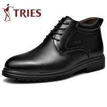 才子男鞋2019新款棉靴保暖加绒高帮棉鞋男士加厚棉靴中年爸爸鞋棉靴CZ2801Z
