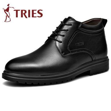 才子?#34892;?019新款棉靴保暖加绒高帮棉鞋男士加厚棉靴中年?#32844;中?#26825;靴CZ2801Z