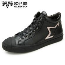 Olunpo/?#20223;妆?#20908;季新款时尚真皮男靴潮流英伦休闲马丁靴DYL1610