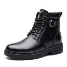 承发冬季男靴牛皮男士雪地靴保暖鞋子男加绒时尚工装军靴棉鞋86076