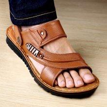 承发新款男士休闲沙滩鞋软底时尚凉鞋男两用拖鞋露趾  107888