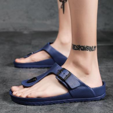 新款拖鞋男士休閑人字拖防滑時尚室外穿潮英倫涼鞋沙灘夾拖男 ZY1717
