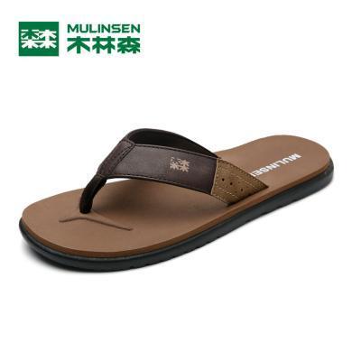 木林森男士拖鞋男夏季時尚外穿防滑人字拖男軟底韓版室外沙灘鞋男298052