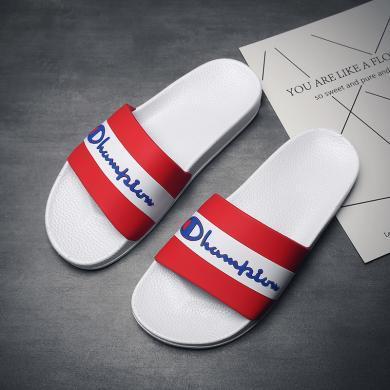 男韓版沙灘鞋涼拖時尚防滑一字拖涼鞋個性潮流厚底拖鞋可外穿 ZY581